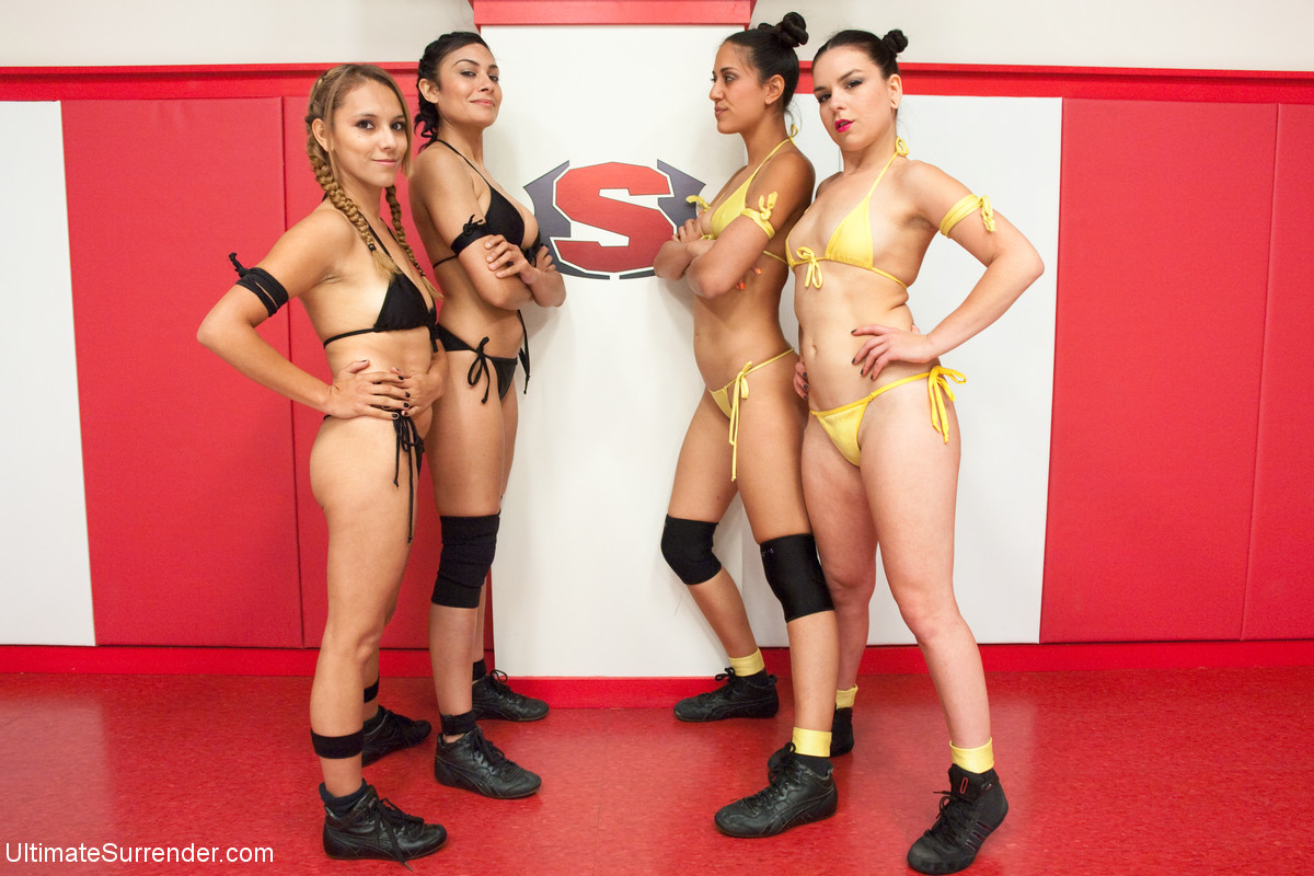Ultimate Surrender Tag Team Lesbians: Lyla Storm and Juliette March vs Beretta James and Luna Light